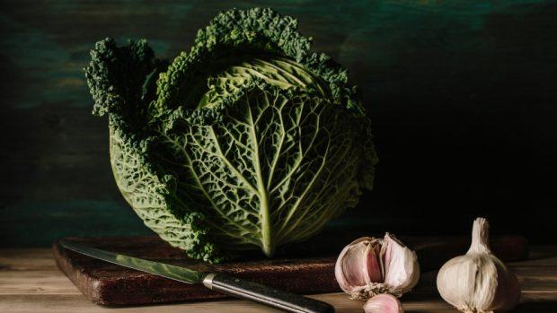 Lasaña de kale y champiñones