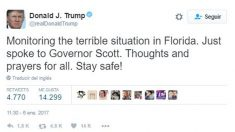 Donald Trump sobre el atentado de Fort Lauderdale.