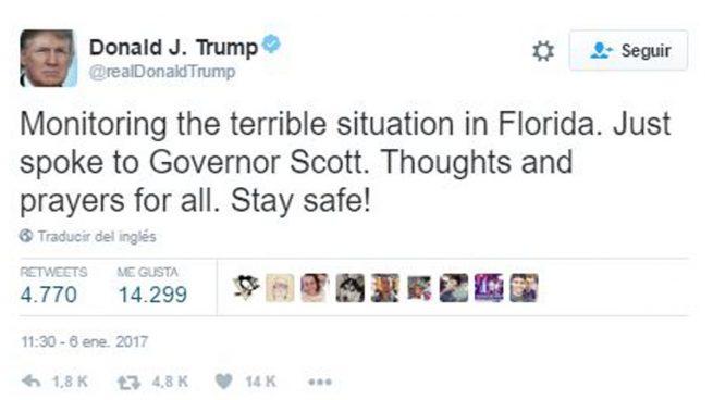 El presidente electo Trump siguió en directo la situación en Florida tras el atentado