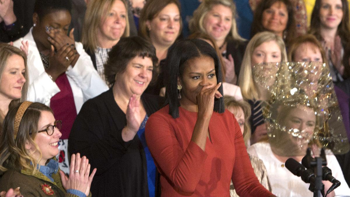 Michelle Obama este viernes en la Casa Blanca (Foto: AFP).