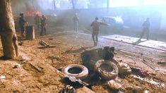 La imagen muestra el lugar del atentado (Foto: AFP).