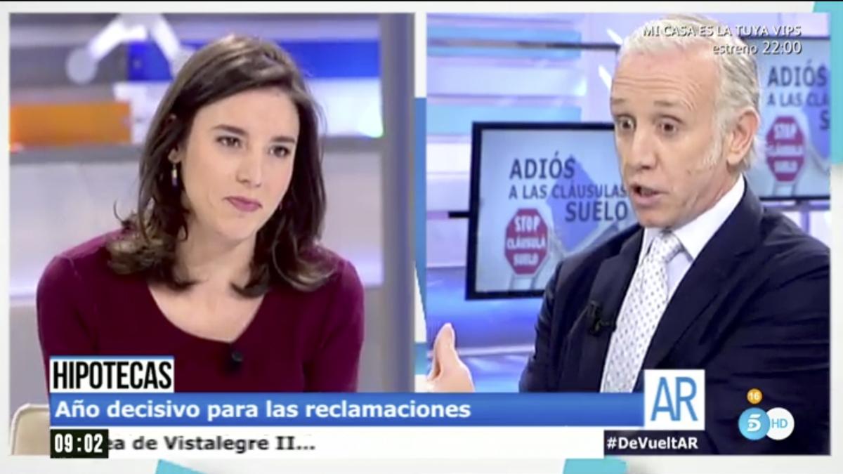 Irene Montero y Eduardo Inda en 'El programa de Ana Rosa'.