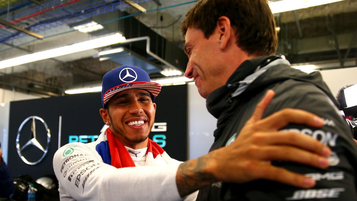 Toto Wolff deja claro en cada intervención que hace lo mucho que Mercedes necesita a Lewis Hamilton. (Getty)