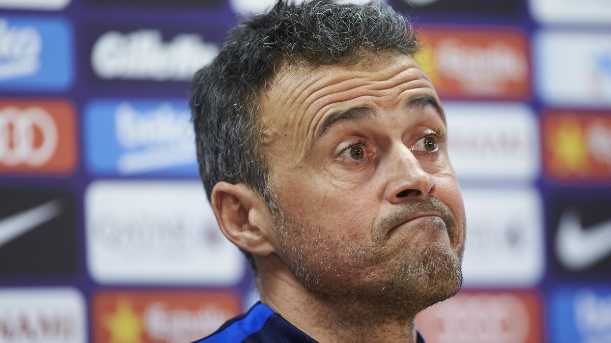 Luis Enrique compareció en rueda de prensa previo al duelo copero ante el Athletic. (EFE)