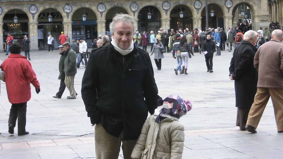 Fernando Blanco con Nadia.