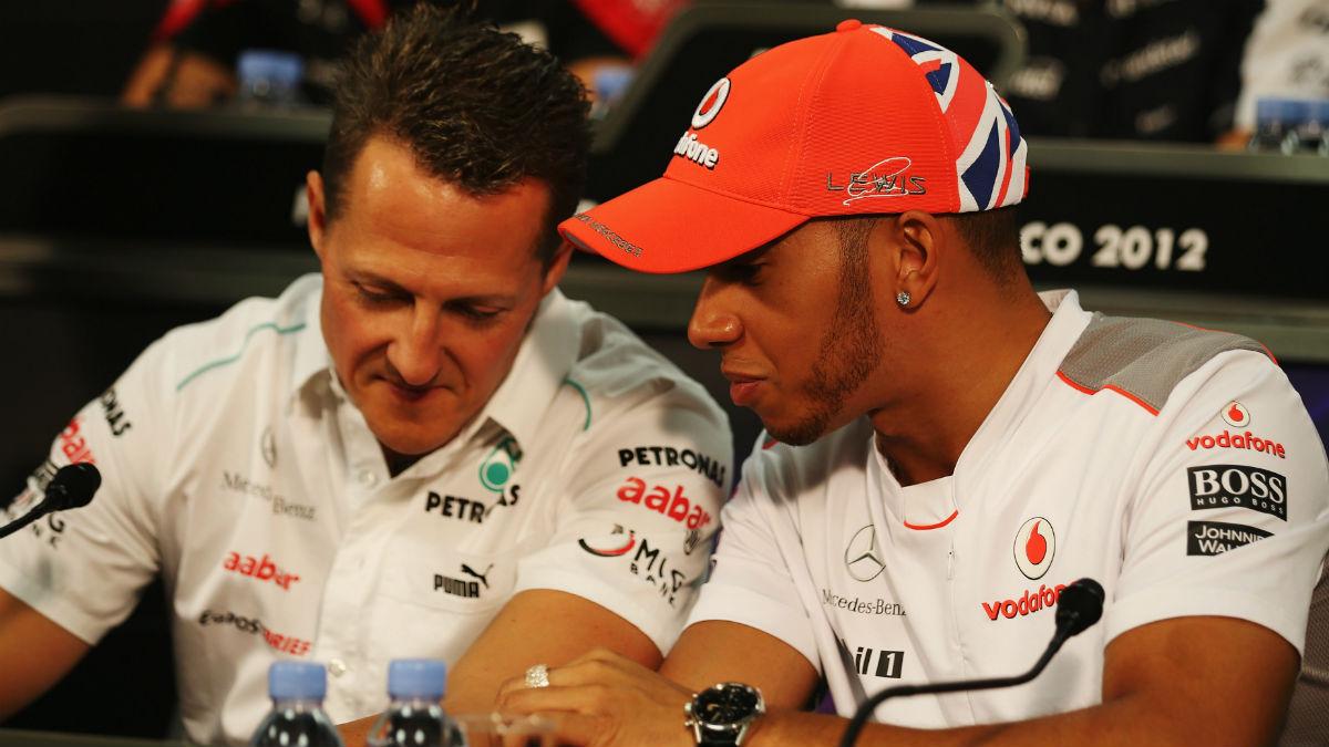 Ross Brawn asegura que el gran mérito de Schumacher fue reunir a un gran equipo en Ferrari, algo con lo que Hamilton se ha encontrado en Mercedes. (Getty)