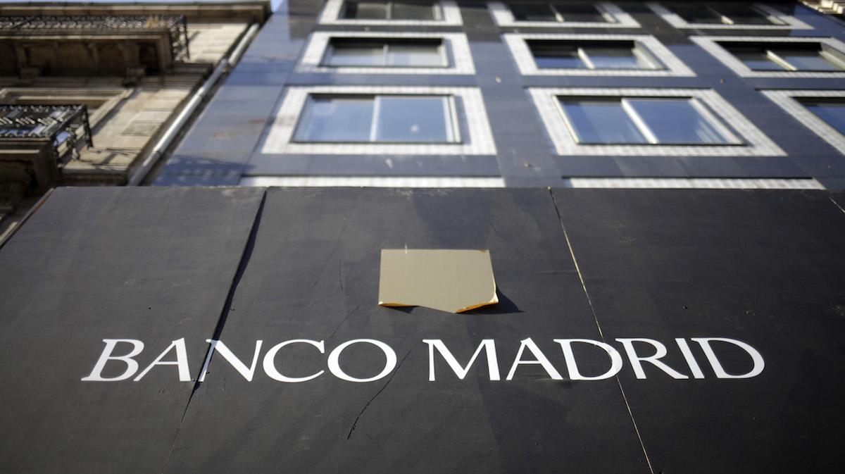 Oficina del Banco Madrid en una imagen de archivo. (Foto: EFE)