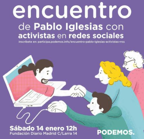 Iglesias ficha a declarados anti-errejonistas para que agiten las redes en la campaña de Vistalegre