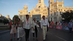 La alcaldesa a las puertas del Palacio de Cibeles, sede consistorial. (Foto: Madrid)