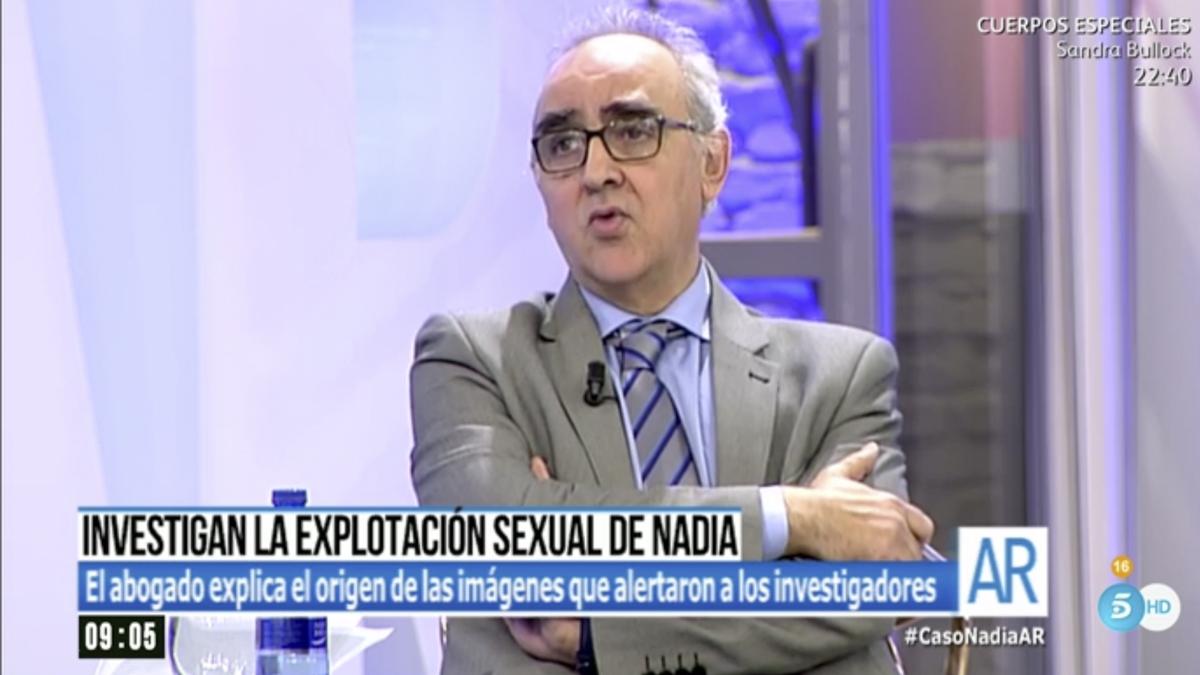 Alberto Martín, abogado de los padres de Nadia, en 'El programa de Ana Rosa'.