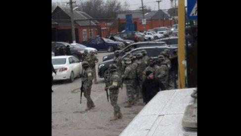Fuerzas rusas en Chechenia (Foto: Twitter Chechen Center)