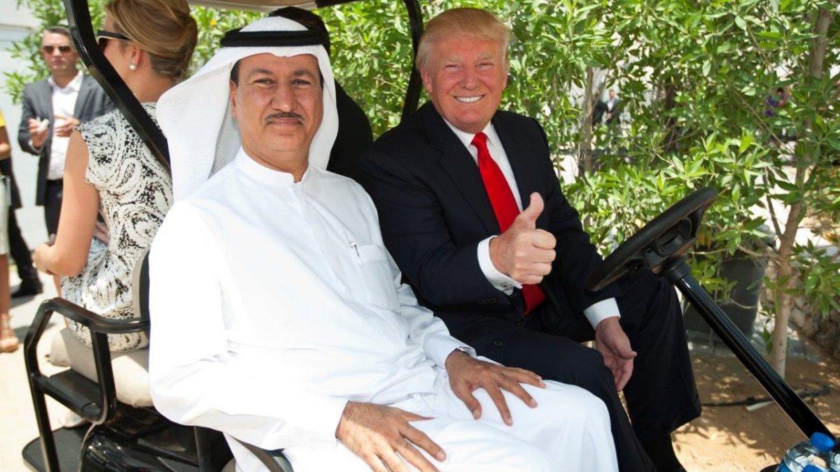 Donald Trump con Hussein Damc