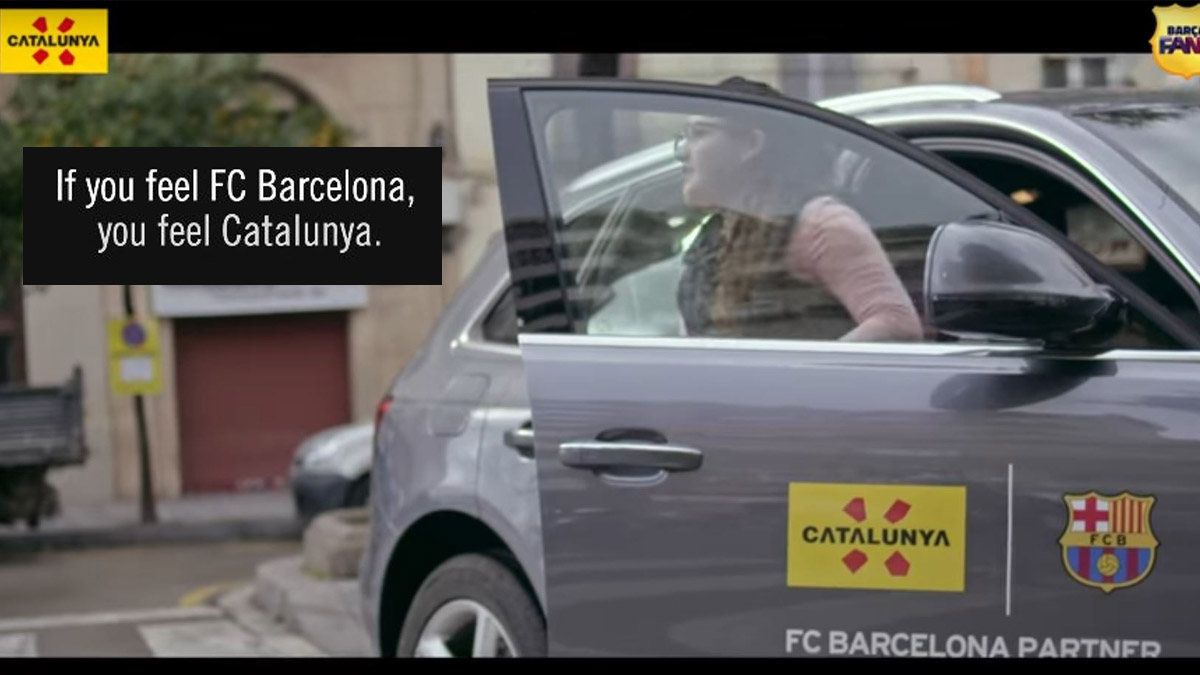 La Generalitat ha difundido un vídeo promocional con el FC Barcelona.