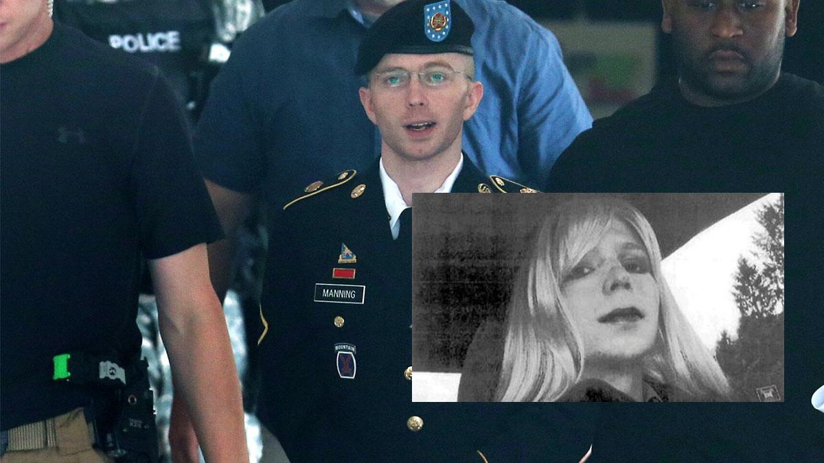 Bradley Manning y la imagen que envió con su nuevo aspecto tras cambiar de sexo.