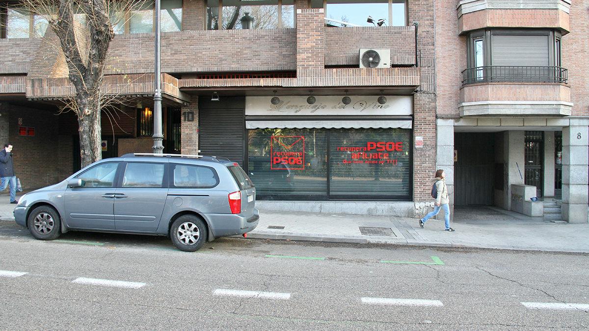 Sede paralela en Ferraz 10. (Foto: Enrique Falcón)