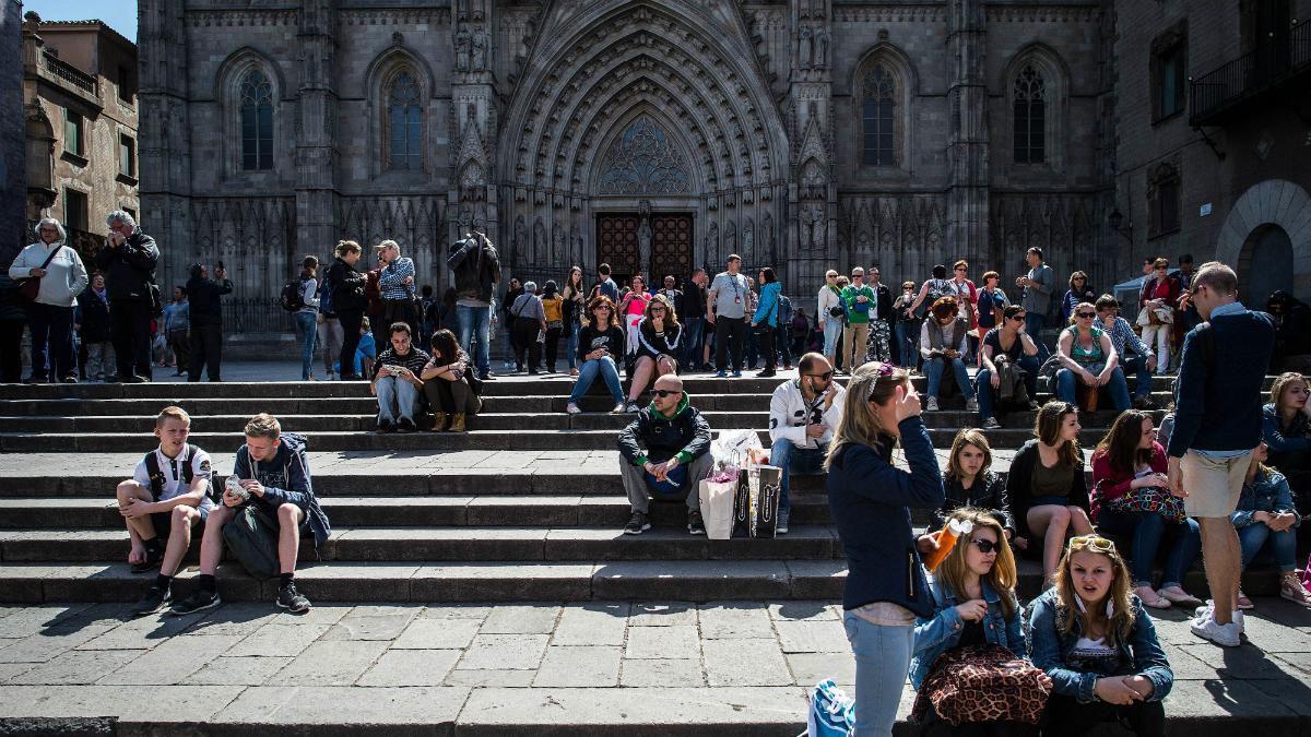 Turistas en Barcelona (Foto: Getty).