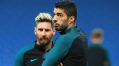 Luis Suárez y Leo Messi
