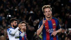 Rakitic celebra un gol con el Barcelona. (Getty)