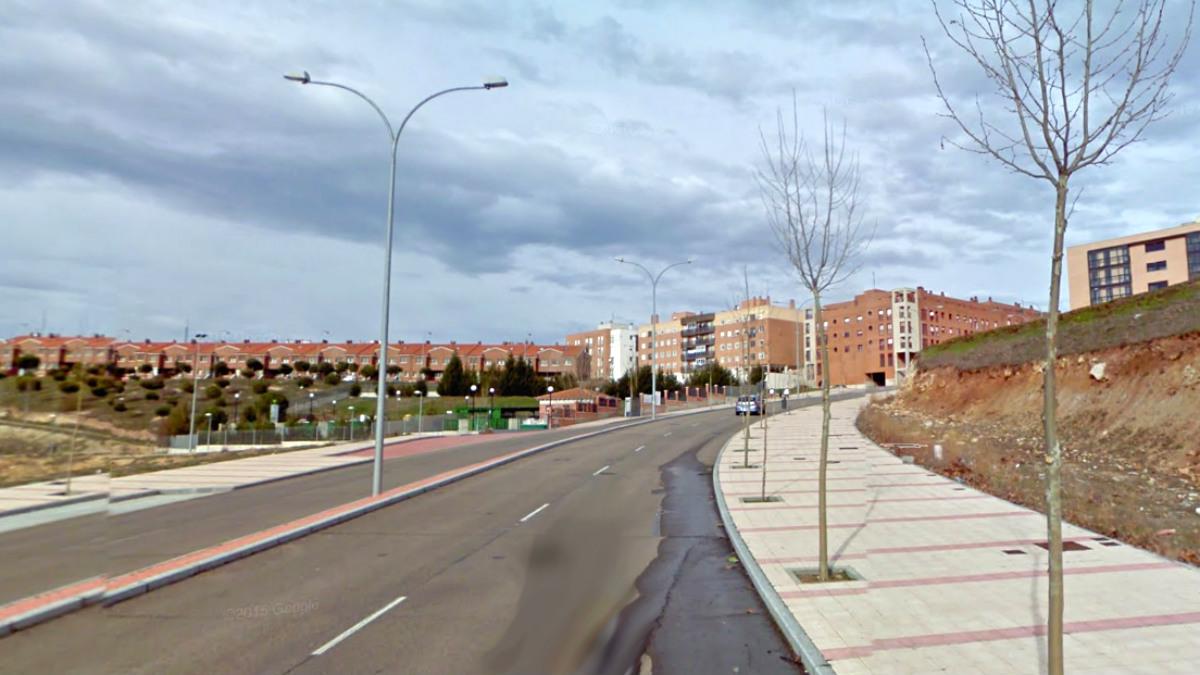 Avenida Virgen del Cueto, en el barrio de El Zurguén, Salamanca.
