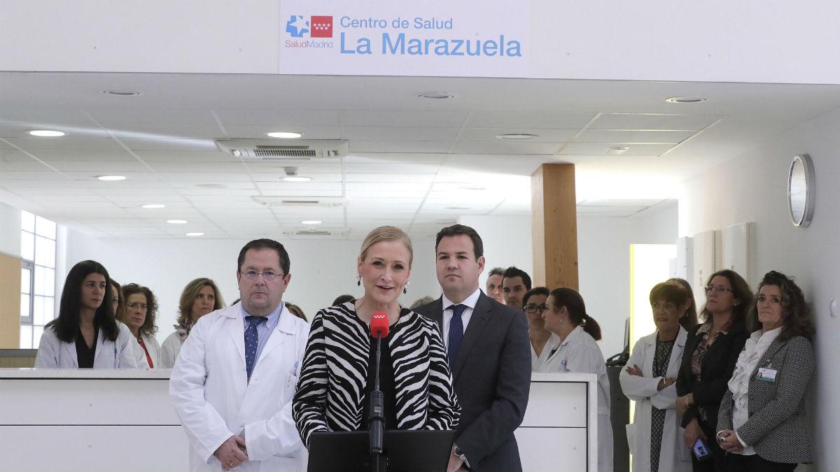 Cristina Cifuentes en la inauguración del Centro de Salud de la Marazuela (CAM)