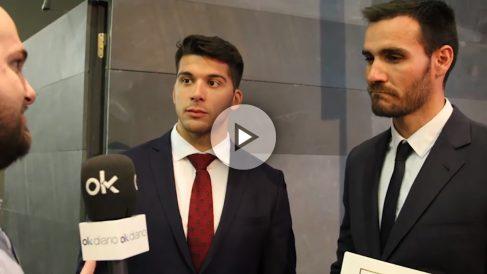 Saúl Craviotto y Cristian Toro atienden a OKDIARIO en el Comité Olímpico Español.