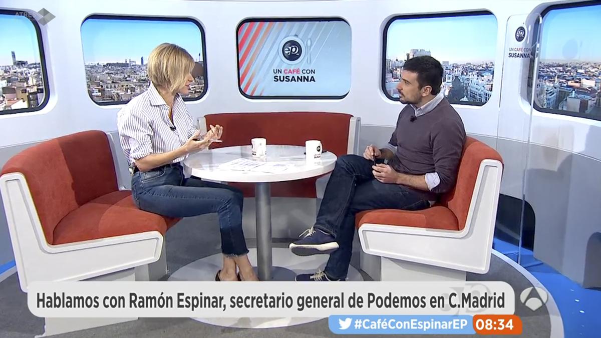Susanna Griso y Ramón Espinar.