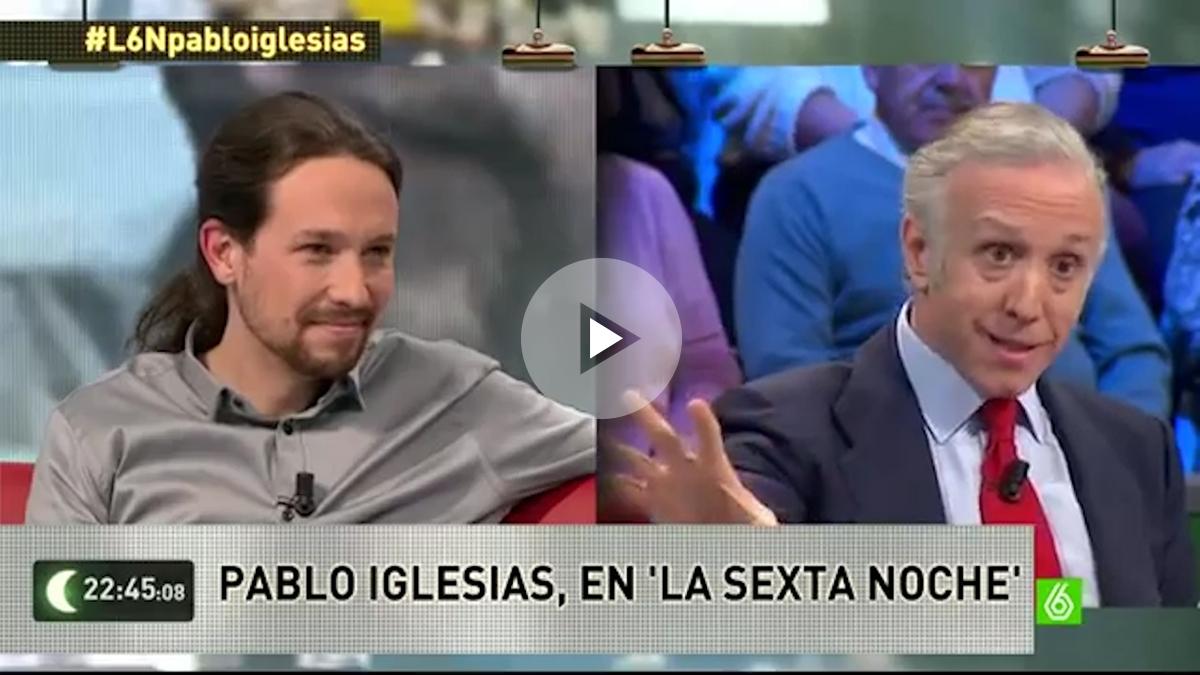 Pablo Iglesias y Eduardo Inda, en La Sexta Noche.