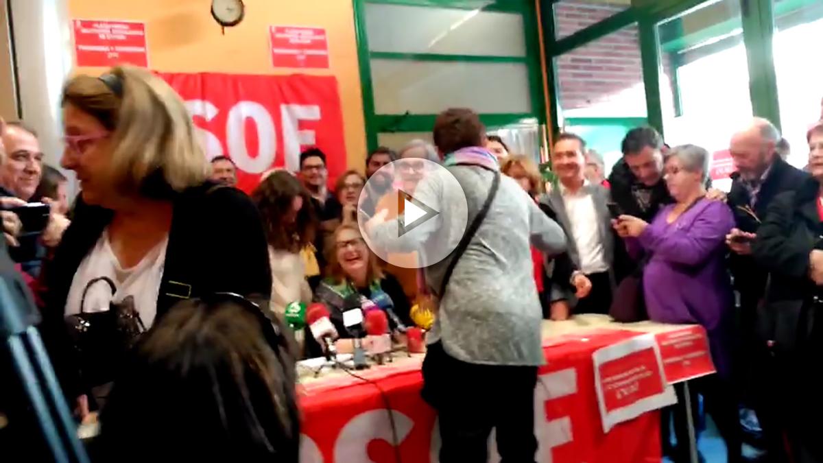 La rueda de prensa de los críticos del PSOE, este viernes.