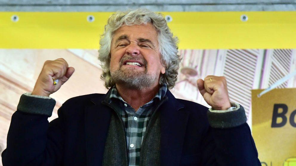Beppe Grillo, líder del Movimiento Cinco Estrellas en Italia (Foto: AFP)