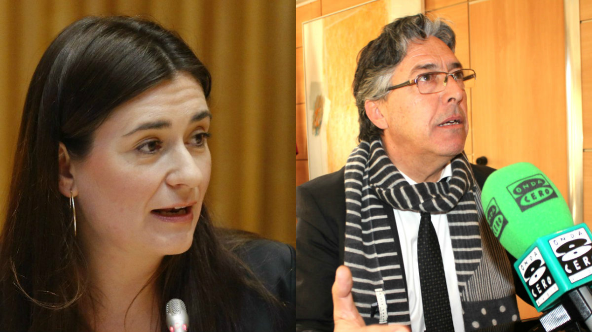 La consellera Montón y José Sanfeliu.