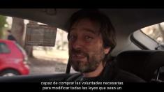 Rafael Mayoral, diputado de Podemos en el Congreso en uno de los momentos del Vídeo #StopUber (Fuente: Youtube)