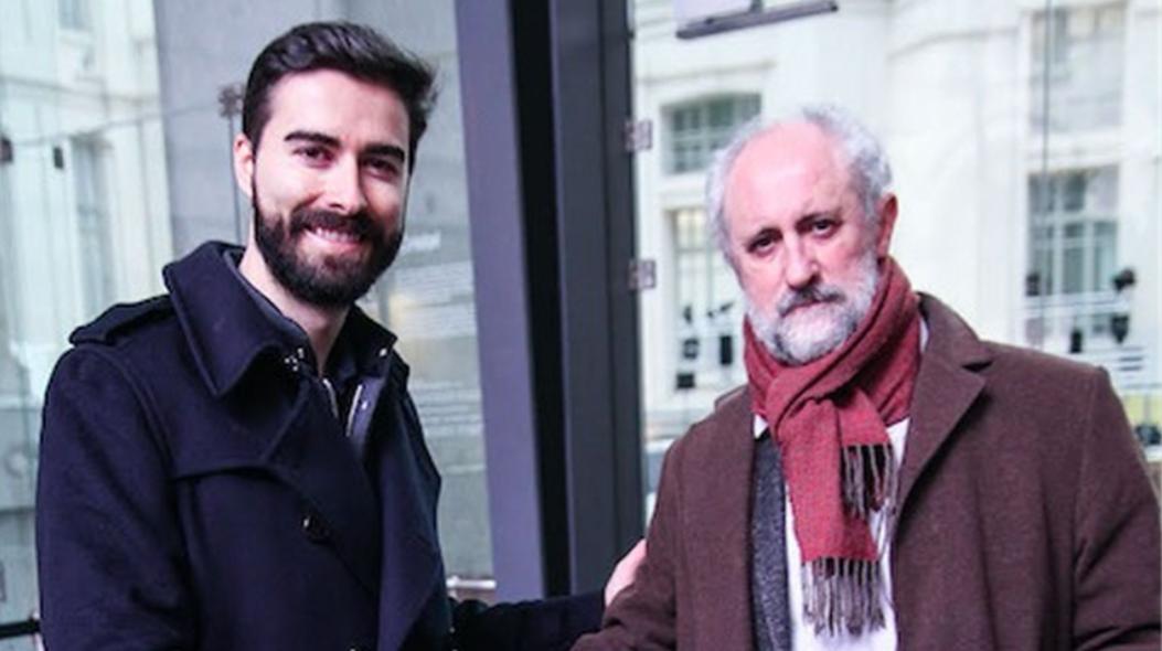 Carles Lloret, líder de Uber España y Luís Cueto, coordinador general de la Alcaldía en el Ayuntamiento de Madrid (Foto: Uber)