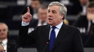 Antonio Tajani es el nuevo presidente de la Eurocámara (Foto: AFP)