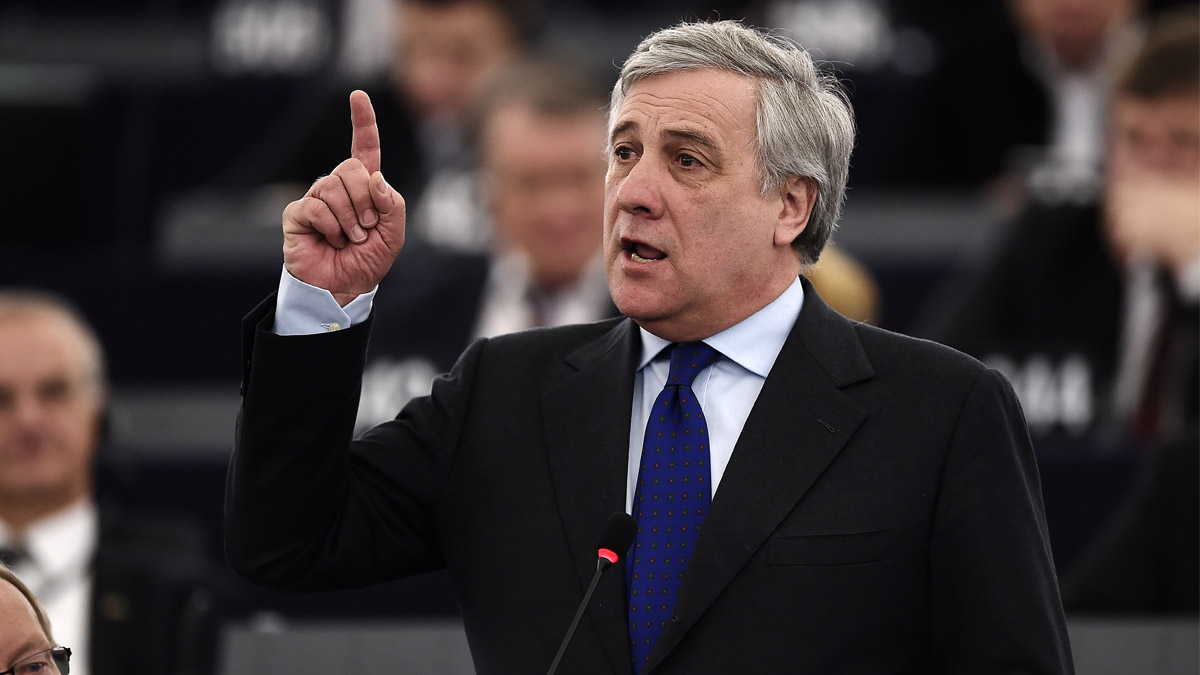 Antonio Tajani, presidente de la Eurocámara (Foto: AFP)