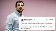 Ramón Espinar. (Foto: Podemos)