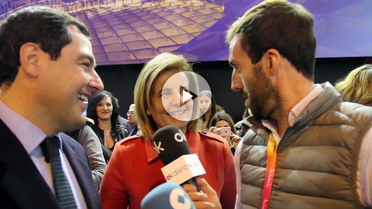 Juan Manuel Moreno y Fátima Báñez. (Foto: Enrique Falcón)