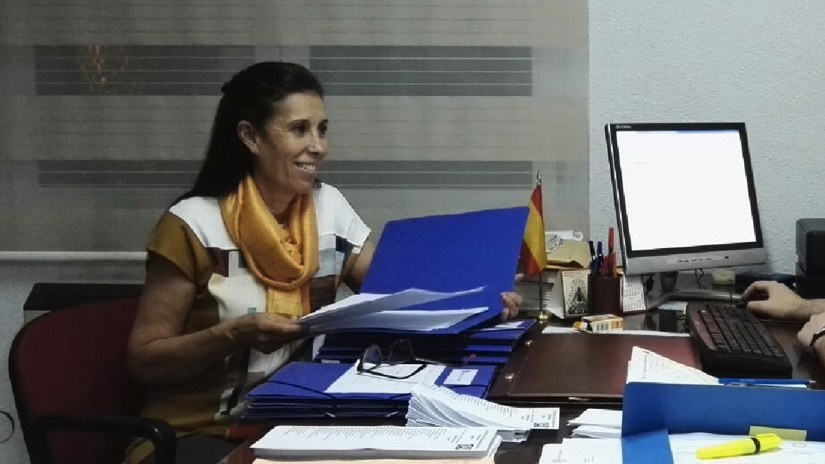 La presidenta del PP de Vallecas, Eva Durán. (Foto: TW)