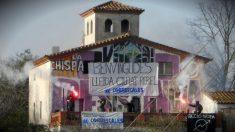 Centro social 'La Chispa', inmueble okupado en Alpicat (Lérida).