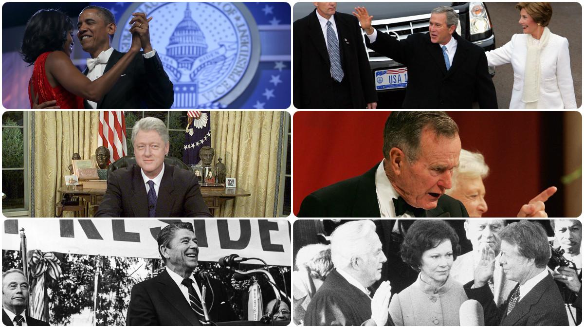 Los seis presidentes que precedieron a Donald Trump en la Casa Blanca (Fotos: Getty)