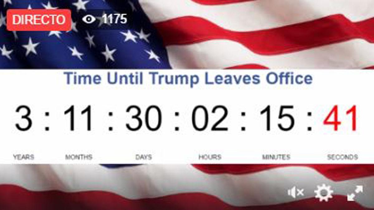 Cuenta atrás para que Trump deje la Casa Blanca.