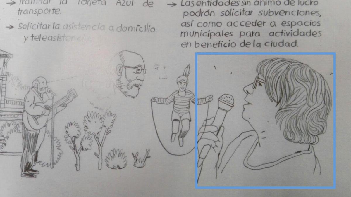 Folleto del Ayuntamiento con la concejal Inés Sabanés.