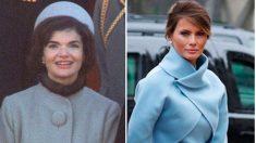 Melania, a la derecha, en un montaje con Jackie Kennedy.