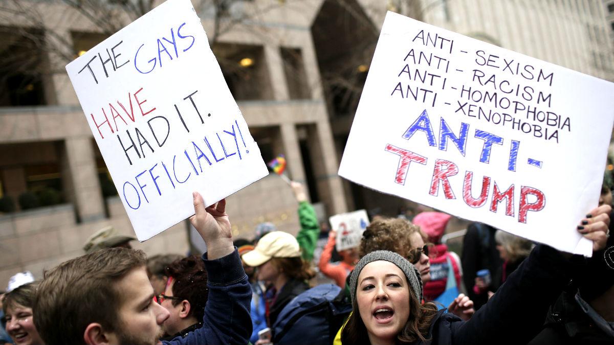 Protesta contra Trump en Washington (Foto: AFP).