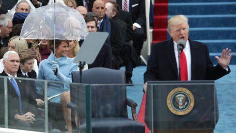 Donald Trump en su primer discurso como presidente (Foto: AFP)