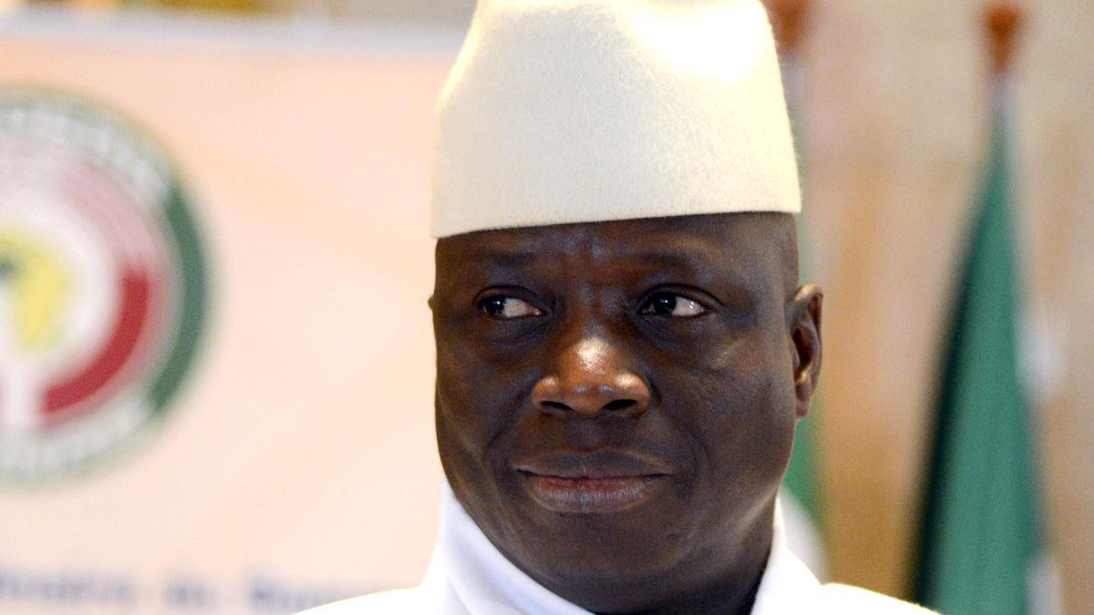 El ya ex presidente Jammeh en una imagen de 2014 (Foto: AFP).