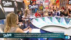 El periodista de OKDIARIO Borja Jiménez, en el plató del programa 'Sálvame'.