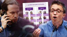 Los líderes de Podemos Pablo Iglesias e Íñigo Errejón.