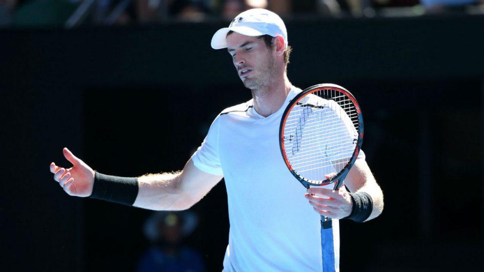 Andy Murray se lamenta tras fallar un punto. (Getty)