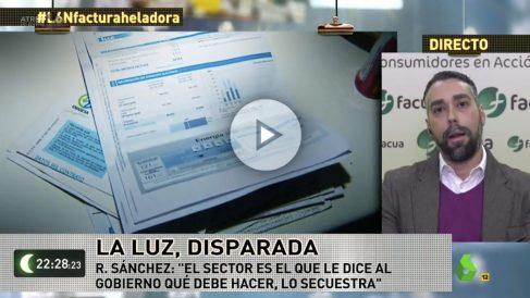 El portavoz de Facua, Rubén Sánchez, en La Sexta Noche.
