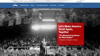 Nueva web de la Casa Blanca.